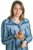 Women with soap — Stock Photo