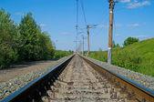 Järnvägen vid lunchtid — Stockfoto