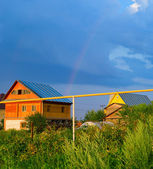 Krajobraz z rainbow — Zdjęcie stockowe
