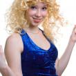 Coquettish blonde girl — Stock Photo #1360256