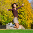 Stock Photo: Nice jumping girl