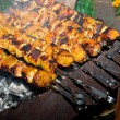 hot shish kebab — Stock Photo