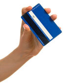 Blue credit card — Stock Photo
