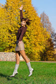 Nice jumping girl — Stock Photo