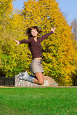 Nice jumping girl — Stock Photo