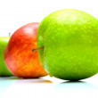 Stock Photo: Red and green apples 2