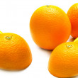 Ripe cut oranges — Stock Photo