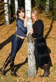 Dwie dziewczyny — Zdjęcie stockowe