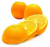 Ripe cuted oranges — Stock Photo
