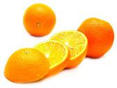 Ripe cut oranges — Stock Photo