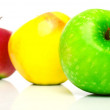 Red, yellow and green apples — Stock Photo