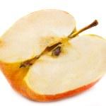 Half of ripe juicy red apple — Stock Photo #1433213