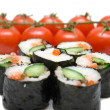 Royalty-Free Stock Photo: Sushi and tomatoes