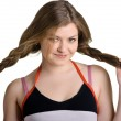Girl with plaits — Stock Photo
