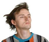 Man with shaggy hair — Stock Photo