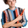 Shaggy young man — Stock Photo