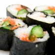 Japanese sushi rolls — Stock Photo