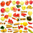 Collage from fruits and vegetables 2 — Stock Photo #1584363