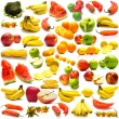 Collage from fruits and vegetables 3 - Stock Photo