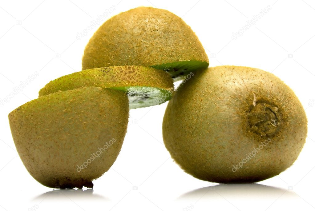 Kiwi fruit on a white background. Isolation on white — Stock Photo #1584063