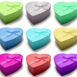 Royalty-Free Stock Photo: Beautiful colors hearts