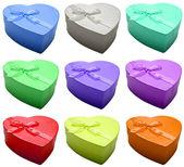 Beautiful colors hearts — Стоковое фото