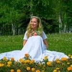 Happy smiling bride — Stock Photo #1612063