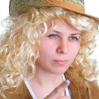 Blonde women in straw hat — Stock Photo #1634376