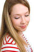 Skromná dívka — Stock fotografie