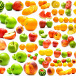 Collage from fruits and vegetables 2 — Stock Photo