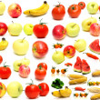 Collage from fruits and vegetables — Stock Photo