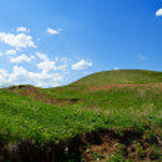 Summer landscape with ravine — Stock Photo #1997385
