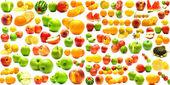 从水果和蔬菜 2 拼贴画 — 图库照片