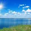 Summer landscape with lake — Stock Photo #2005080
