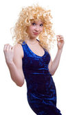 Coquettish blonde girl — Stock Photo