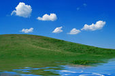 Hills of the Ural mountains — 图库照片