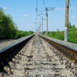 Stock Photo: Railroad at noon
