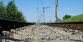 Railroad at noon — Foto Stock