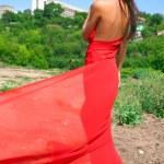 Girl in red dress — Stock Photo #2067840
