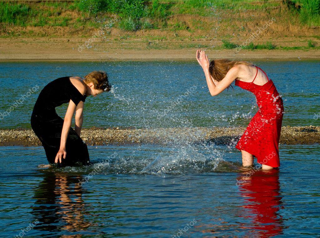 Jugando con agua show disco chilena 7