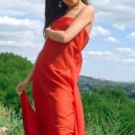 Girl in red dress — Stock Photo #2072084