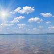 Quiet water of lake - Stock Photo