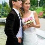 Serenity bride and groom — Stock Photo #2128884