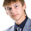 Young businessman on white — Stock Photo