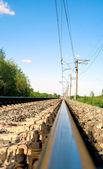 Railroad at noon — Stock Photo