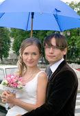 Lächeln, braut und bräutigam 2 — Stockfoto