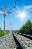 Ferrovia a mezzogiorno — Foto Stock