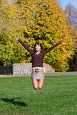 Jumping girl — Stockfoto
