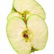 Green cuted apple — Stock Photo