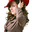 Stock Photo: Girl in a red hat